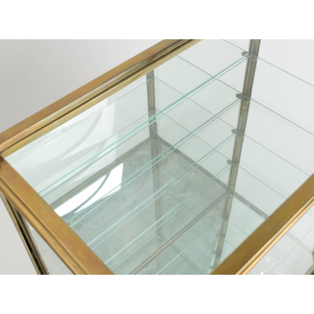 Italian Brass and Glass Display Cabinet For Sale - Image 9 of 11