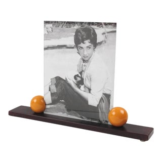 Art Deco Picture Photo Frame Wood and Bakelite For Sale