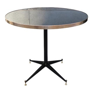 An Iron and Brass Round Table, Italy 1960