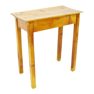 Early American Rustic Fruitwood Side Table For Sale