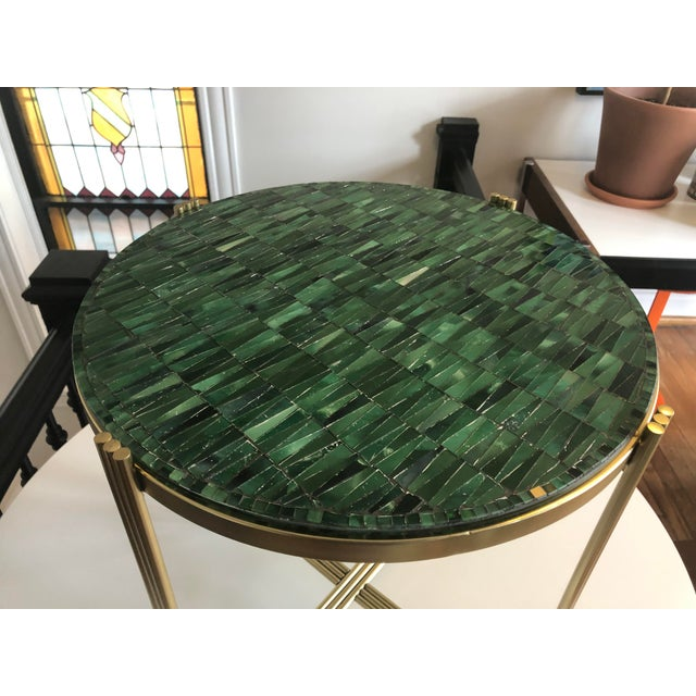 Art Deco Mosaic Side Table For Sale - Image 4 of 8