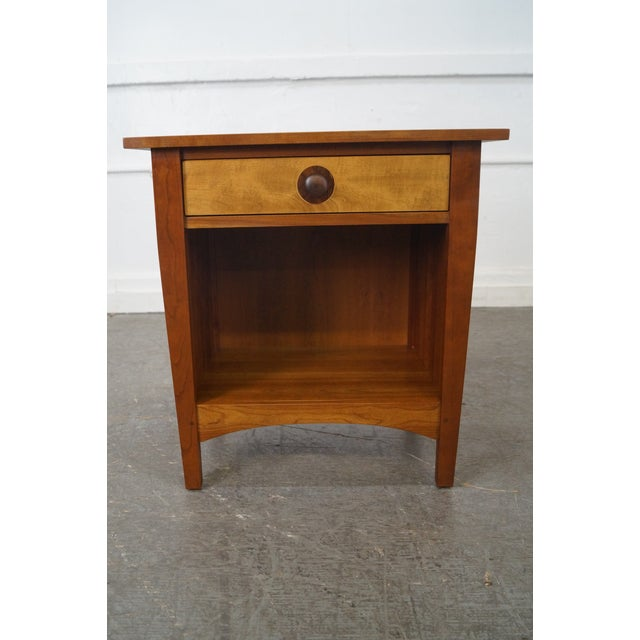 Stickley Mission Style Solid Cherry Nightstand - Image 2 of 10