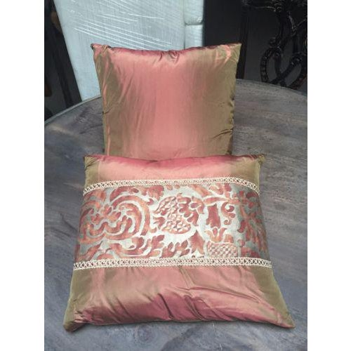 1950's Mariano Fortuny Pillows - Set of 3 - Image 2 of 3