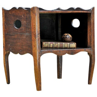 1800s Side Table Shelf Cabin Farmhouse Rustic Pine Colonialist Nightstand For Sale
