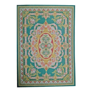 "Pasargad Aubusson Hand Woven Wool Rug - 11' 7"" X 17'11"" For Sale"