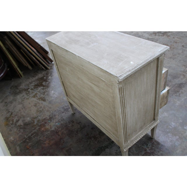 20th Century Vintage Swedish Gustavian Style Nightstands - a Pair For Sale - Image 9 of 12