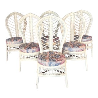 Rattan Cathedral Back Dining Chairs - Set of 6