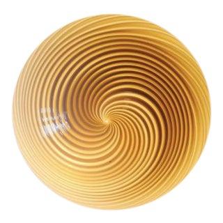 Vintage Murano Swirl Glass Flush Mount Light