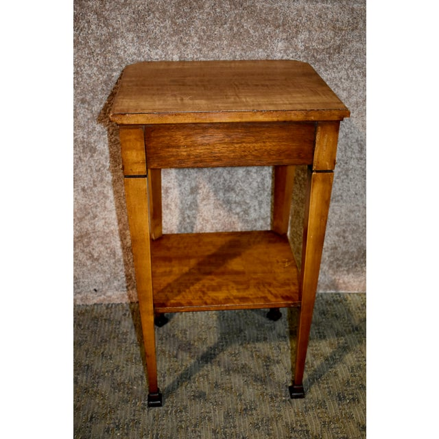 Brown Antique French Satinwood Side Tables with Painted Designs - a Pair For Sale - Image 8 of 13