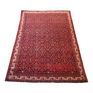 Antique Fereghan Rug 6.4' by 4.75' For Sale