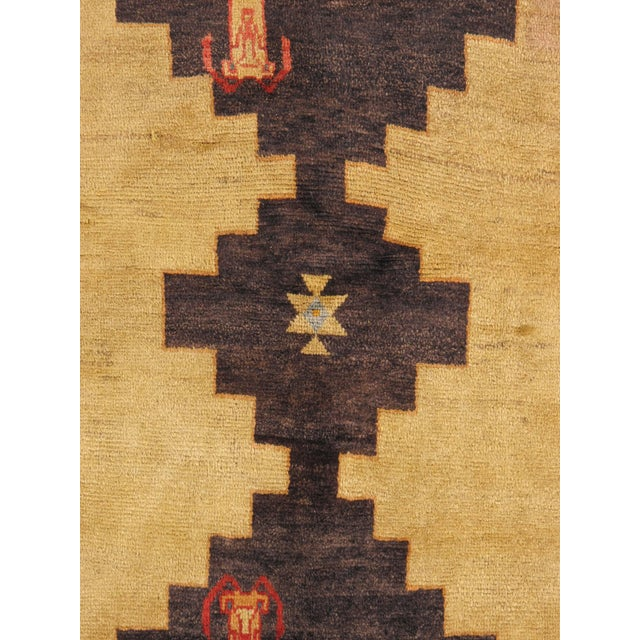 """Vintage Persian Gabbeh Rug - 4'3"""" x 7'4"""" For Sale - Image 4 of 5"""