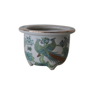 Imari Style Green Bird Of Paradise Planter For Sale