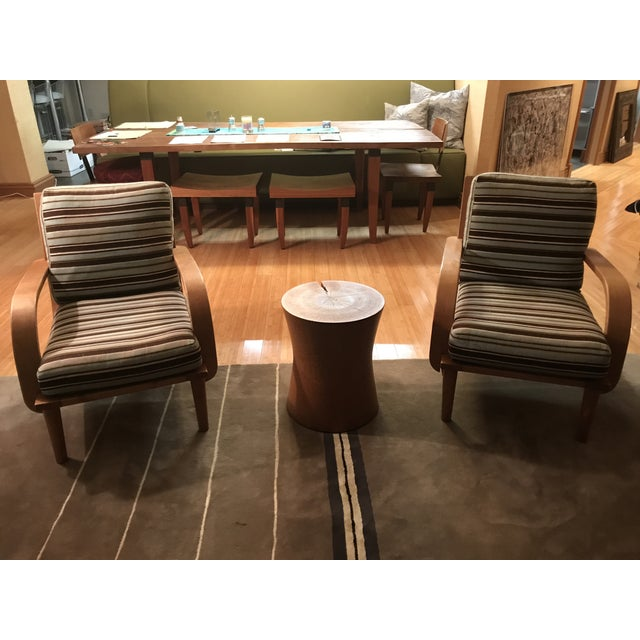 signed/original finish with new cushions/fabric slipcovers. A versatile american designer, Wright is best known for his...