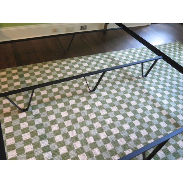 Vintage Victorian Style Metal High Back Queen Size Bed Frame For Sale - Image 10 of 12