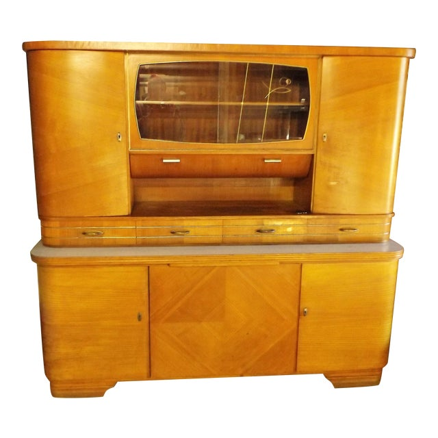 Mid-Century Modern Kitchen Hoosier Hutch - Image 1 of 11