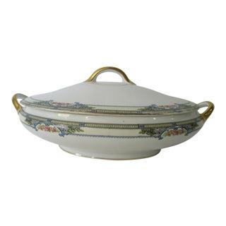 Vintage Noritake Zenda Art Deco Oval Serving Bowl With Lid For Sale