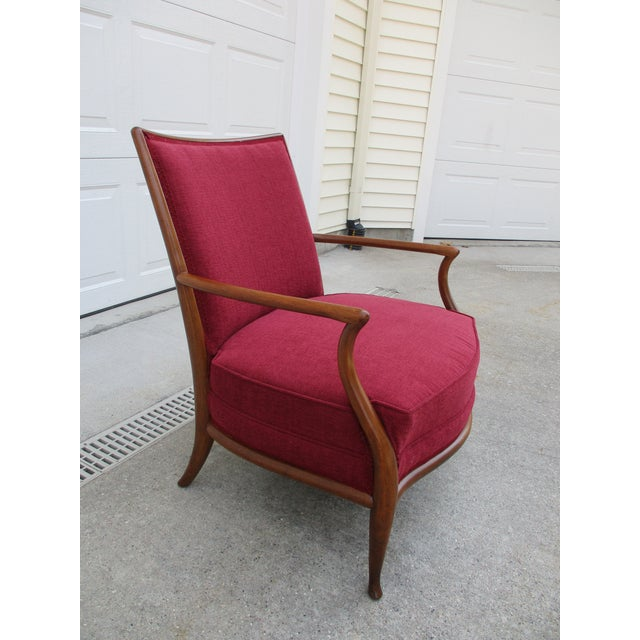 1950s Robsjohn Gibbings for Widdicomb French Style Lounge Chair and Ottoman For Sale - Image 5 of 12