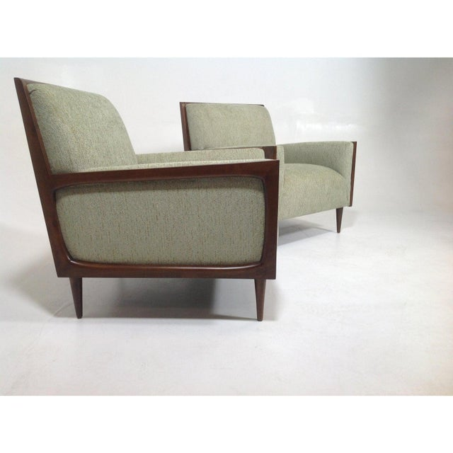 Mid-Century Modern Style Lounge Chairs - a Pair For Sale In San Diego - Image 6 of 7