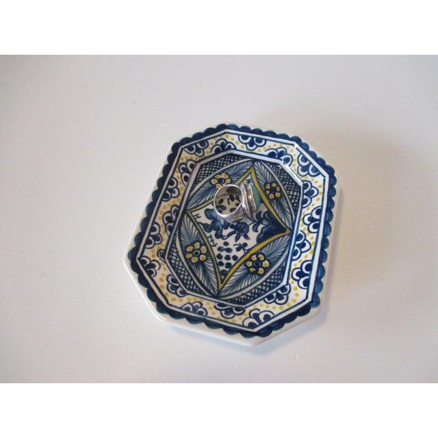 Traditional Vintage Porcelain Portuguese Trinket Dish For Sale - Image 3 of 5