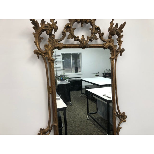 18th Century 18th Century English Chippendale Chinoiserie Style Wall Mirror For Sale - Image 5 of 13