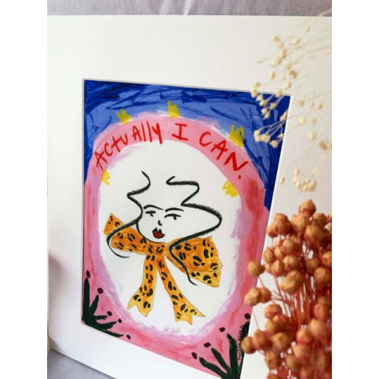 """Illustration """"Actually I Can"""" Contemporary Giclée A4 Print For Sale - Image 3 of 7"""