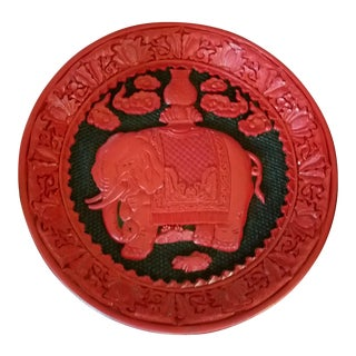 Chinese Cinnabar Plate For Sale