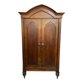 Romweber Wood Arched Media Cabinet] For Sale