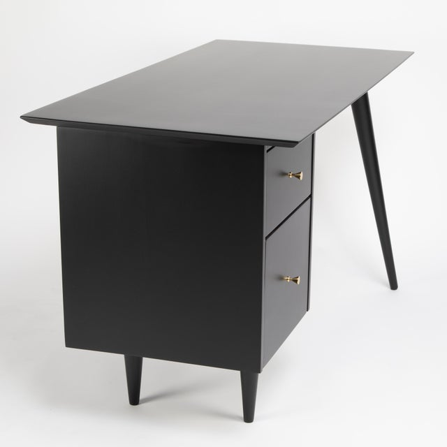 1950s Paul McCobb Desk With Tapered Legs C. 1950s For Sale - Image 5 of 13