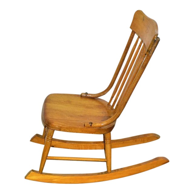 Vintage Wood Rocking Chair - Image 1 of 8