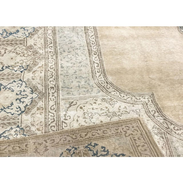 """Islamic Nalbandian - 1940s Persian Kerman Carpet - 10'2"""" X 14'5"""" For Sale - Image 3 of 4"""