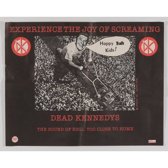 """1982 Dead Kennedys """"The Sound of Hell Too Close to Home"""" Promotional Poster Ronald Reagan For Sale - Image 11 of 11"""
