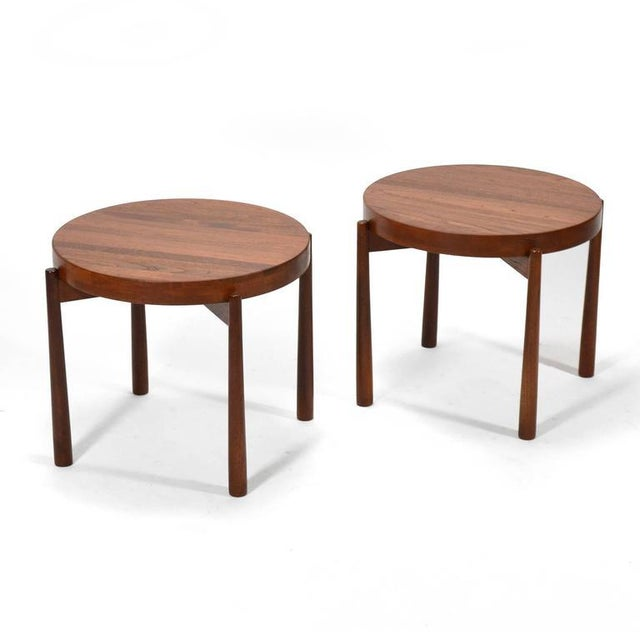 1960s Swedish Solid Teak Flip-Top Tables in the Manner of Jens Quistgaard For Sale - Image 5 of 11
