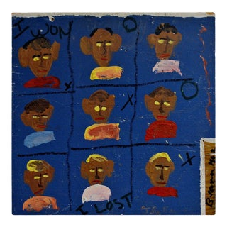 """Original Signed Folk Art Painting by Robyn """"The Beaver"""" Beverland For Sale"""
