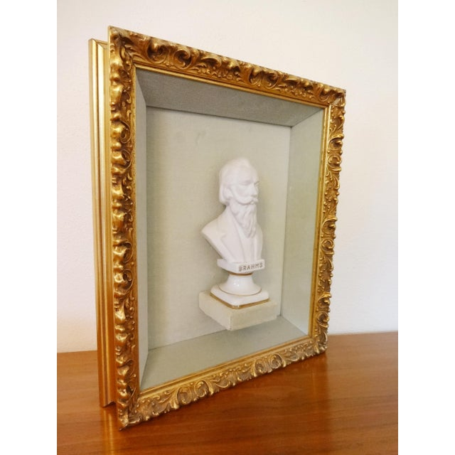 Framed Bust Portraits of Classical Composers - Set of 3 For Sale - Image 9 of 13