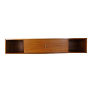 1960s Danish Modern Floating Wall Cabinet For Sale