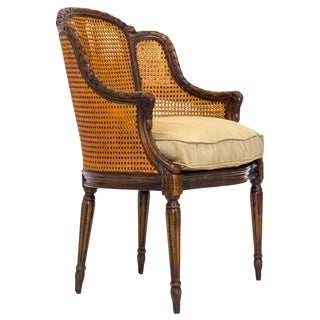 Louis XVI Double Caned Bergere