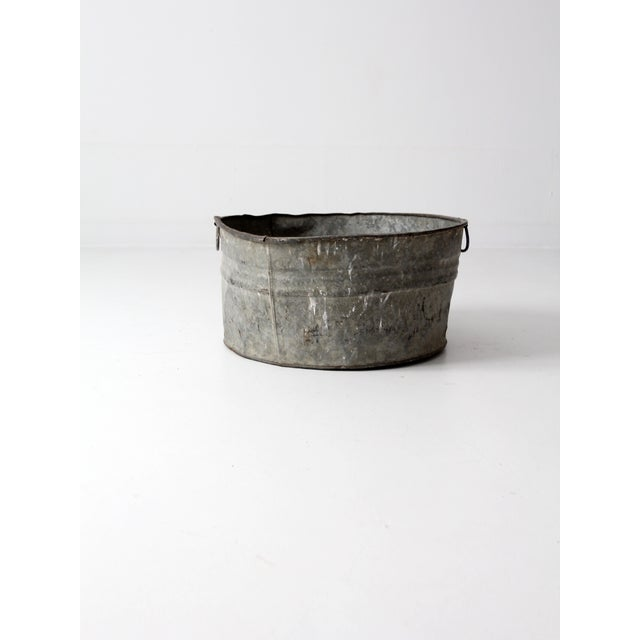 Vintage Galvanized Tub Basin - Image 5 of 8