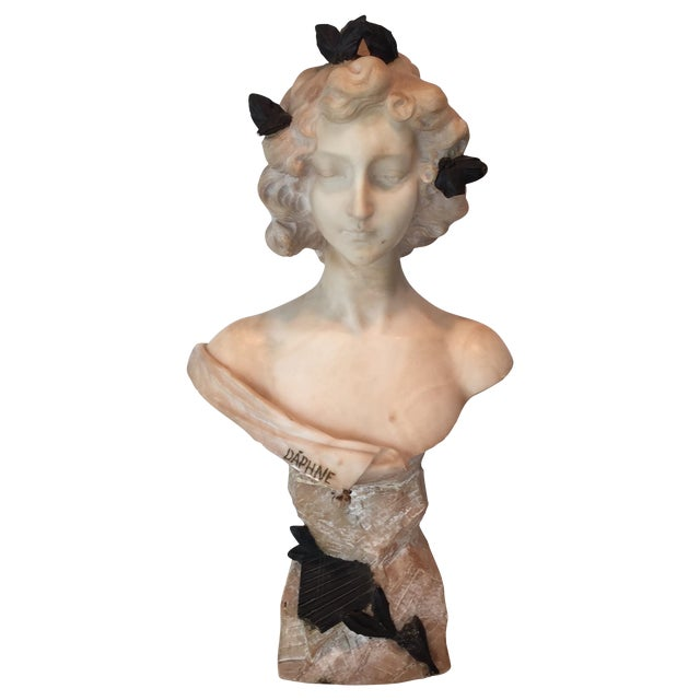 Antique 1920s Italian Alabaster Bust - Image 1 of 10