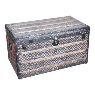 French Louis Vuitton Damier Steamer Trunk For Sale