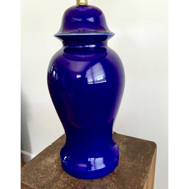Vintage Blue Porcelain Table Lamp - Image 6 of 6