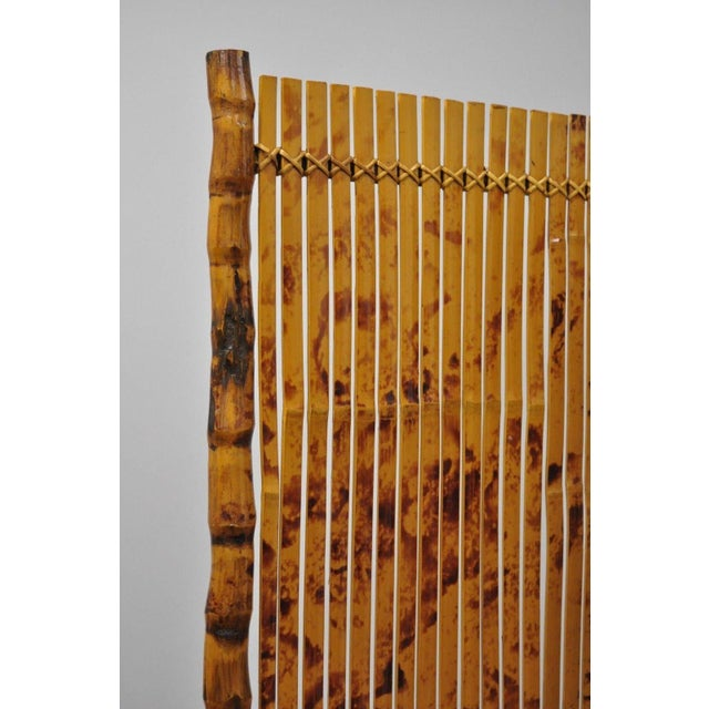 Late 20th Century Late 20th Century Bamboo Wood Panel Room Divider For Sale - Image 5 of 10
