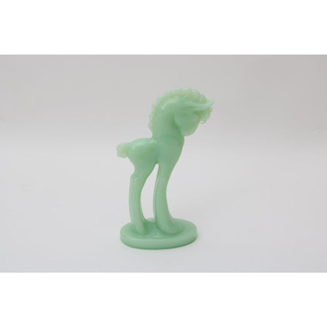 Art Deco 1920s Jadeite Glass Horse Figurine - For Sale In West Palm - Image 6 of 9
