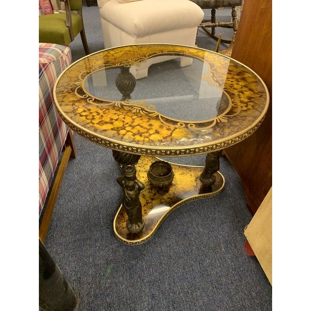 Bronze Mid-Century Gold & Bronze Cherub Accent Table For Sale - Image 8 of 8