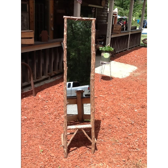 Rustic Standing Mirror - Image 3 of 7