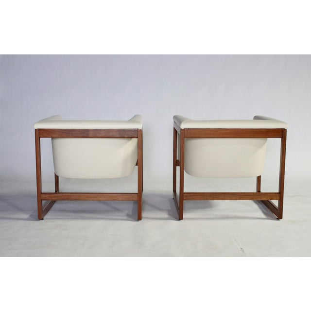 Milo Baughman Floating Cube Club Chairs For Sale In Chicago - Image 6 of 10