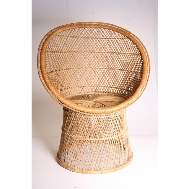 Vintage Boho Chic Wicker Pod Chair For Sale - Image 9 of 11