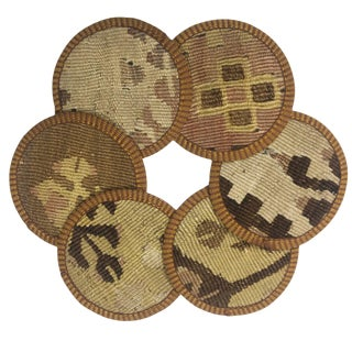 Kilim Coasters Set of 6 | Keseciler For Sale