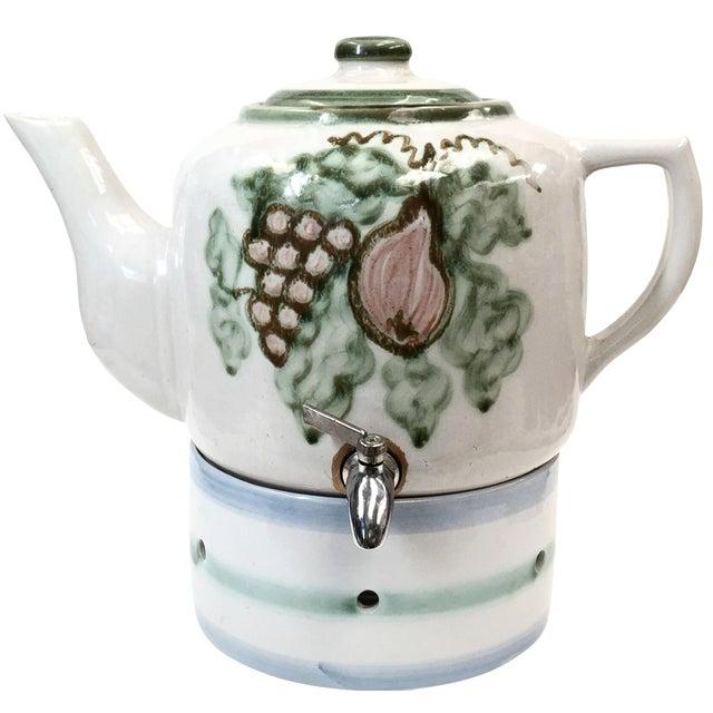 Vintage Pottery Beverage Dispenser - Image 1 of 8