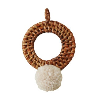 "Christmas Tree Ornament ""Gerhana"" - With Blushed Ivory Pom-Pom For Sale"