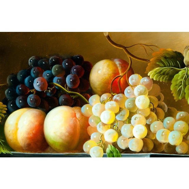 Mid 20th Century Fruit Still Life Giltwood Framed Oil / Canvas Painting For Sale - Image 5 of 11